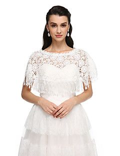 Women's+Wrap+Ponchos+Lace+Wedding+Party/Evening+Tassels+–+USD+$+53.98
