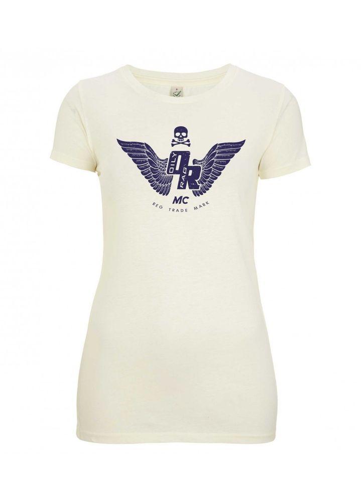 Ladies Oily Rag Motorcycle Club T Shirt  Retro Motorcycle Tee Size 12 / Medium