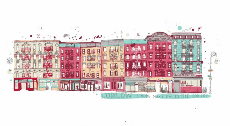 All the Buildings in New York, Illustrated by Australian illustrator and creative nomad James Gulliver Hancock.  http://jamesgulliverhancock.com/      He is drawing all the buildings in New York. He started the blog when he first moved to Brooklyn, as a way of getting to know his surroundings and recording his relationship with his new home.