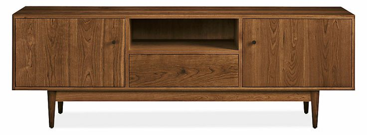 Grove Media Cabinets - Media Storage - Living - Room & Board -- i like this one too but is wood dark enough?