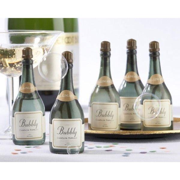 Pompero de jabón con forma de botella de champagne