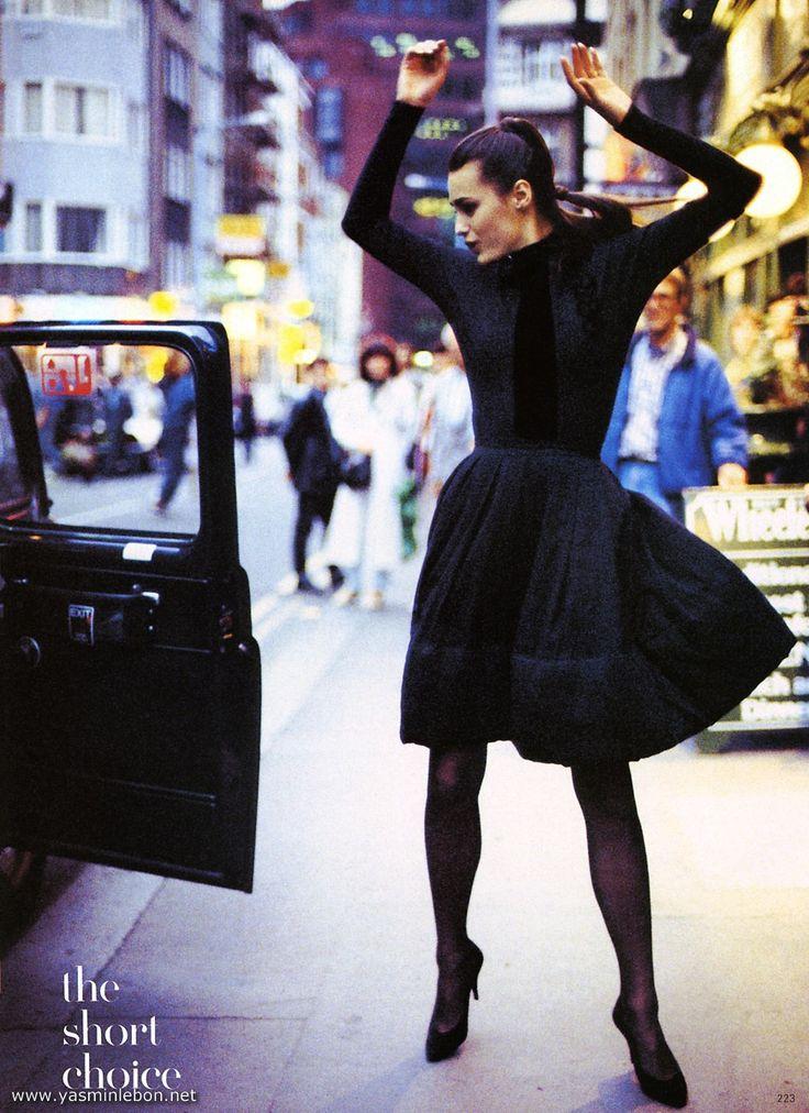 yasmin le bon Vogue UK 1988 | makeup: Frances Hathaway