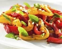 Salade de poivrons grillés (facile, rapide) - Une recette CuisineAZ