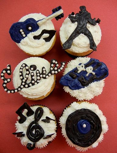 Cute Elvis cupcakes :) for cupcake