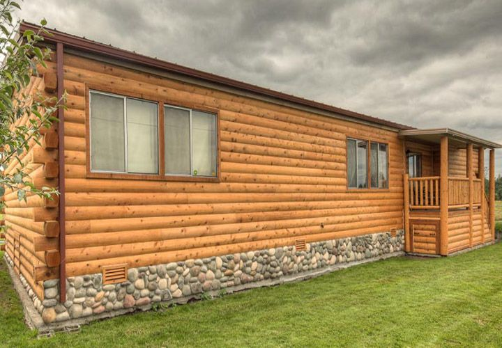 Log Cabin Mobile Home Siding