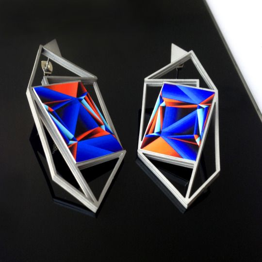 """We've been busy expanding our custom jewelry line and we're proud to introduce our latest piece: say hello to the """"Gemini earring"""", available now at our #Etsy shop http://onti.cc/1Cw1TIH. Let us know what you think ;)!"""