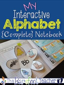 Interactive Notebook {Alphabet} Letter ID, Sounds, Handwri