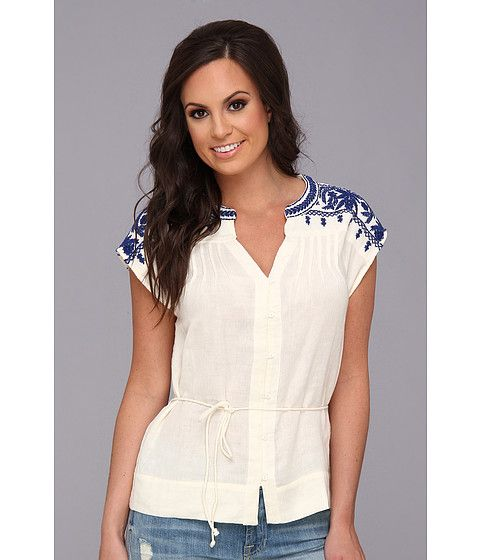 Lucky Brand Sori Embroidered Top Natural Multi - Zappos.com Free Shipping BOTH Ways