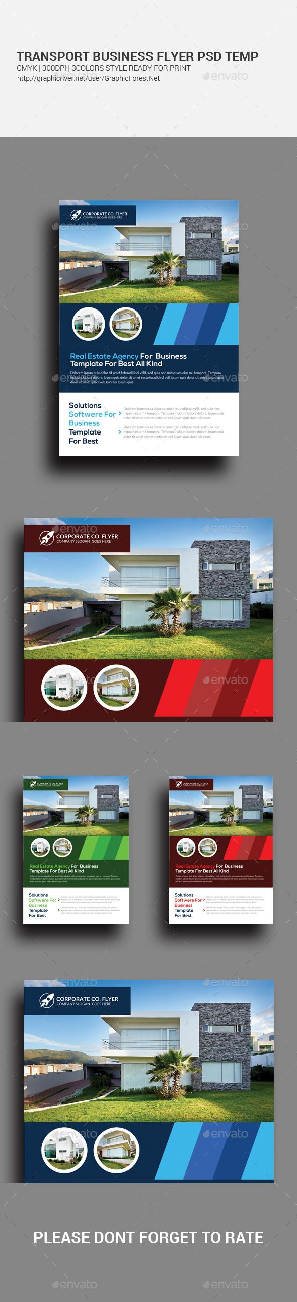 #Real #Estate Agency Business Flyer Template - #Corporate #Flyers Download here: https://graphicriver.net/item/real-estate-agency-business-flyer-template/11708785?ref=alena994