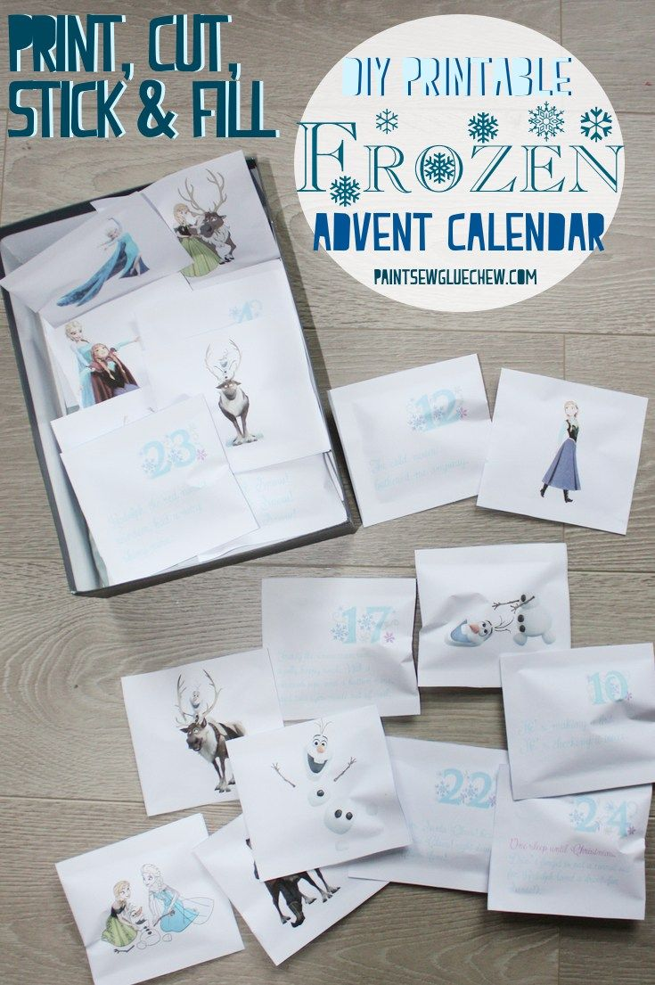 Frozen Advent Calendar – DIY Print And Fill