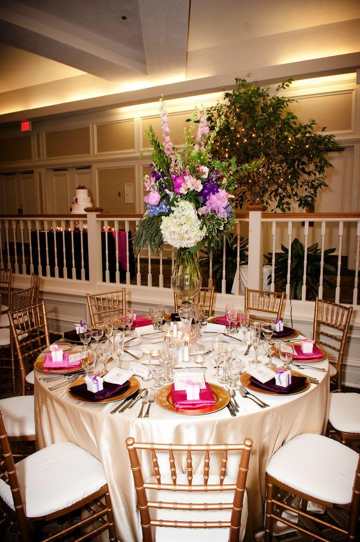 Cardinal Ballroom: tall & traditional arrangement