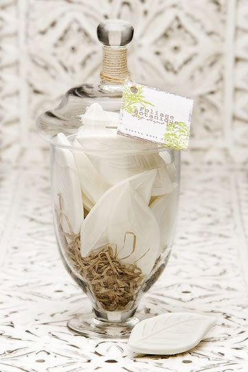 Leaf Soaps in Apothecary Jar - Yes, gorgeous!