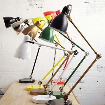 Industrial Task Table Lamps are available in 6 colors.