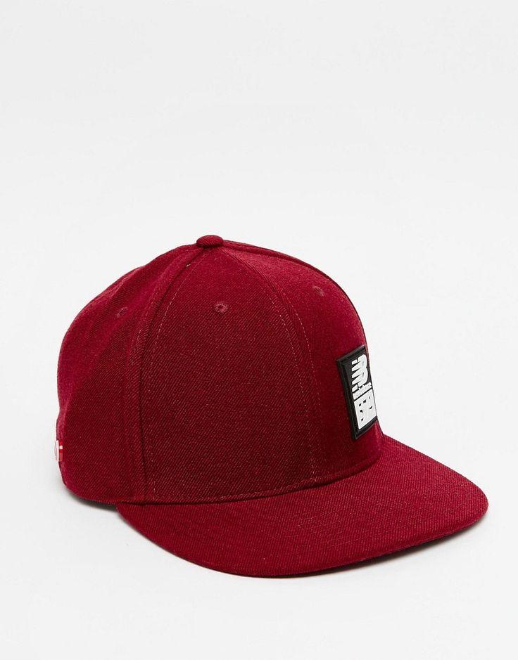 Fede New Balance 574 Snapback Cap - Red New Balance Accessories til Herrer i luksus kvalitet