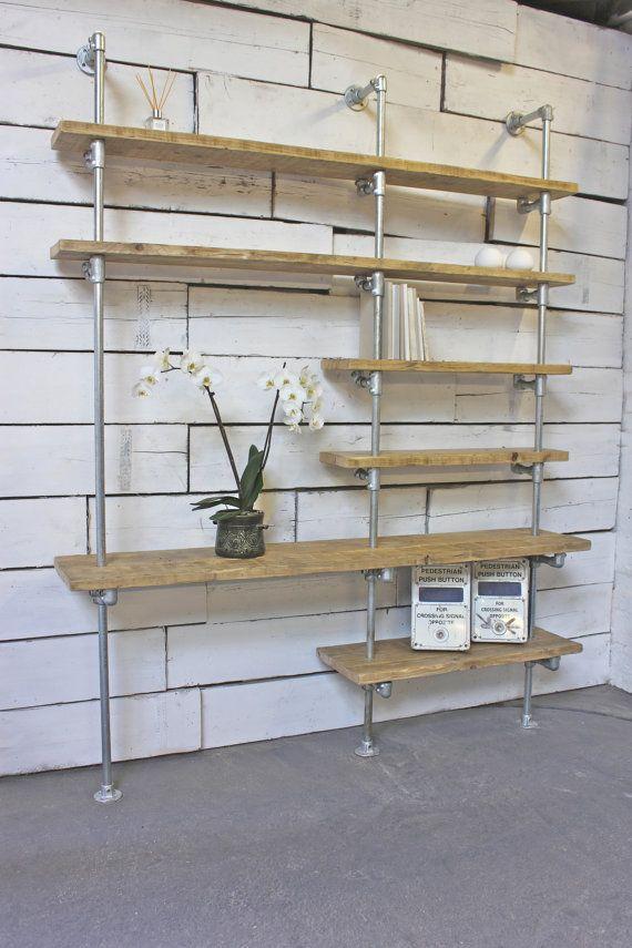 Yuka Reclaimed Scaffolding Boards and Galvanised by inspiritdeco
