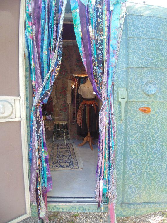 Bohemian Gypsy Vardo Beaded Door Curtains Hippie The
