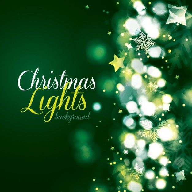 Green Christmas lights vector graphic