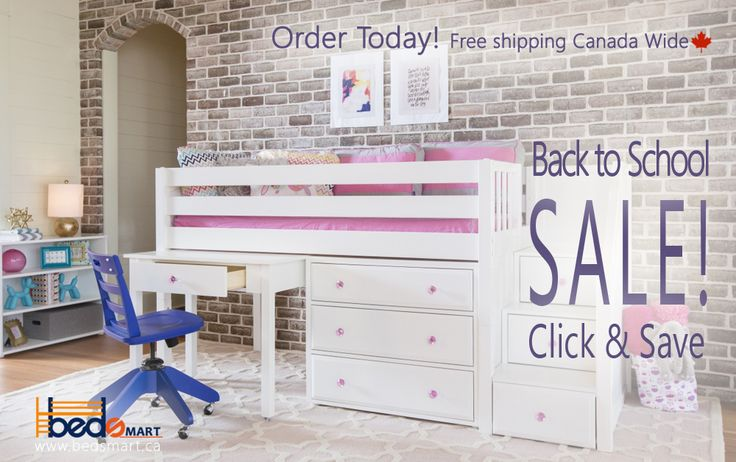 Back to School Sale!   Check out all the Maxtrix Loft Beds with Study Desks.  You can see Maxtrix Furniture and all BEDSMART Kids Furniture on www.bedsmart.ca   Maxtrix Loft & Bunk Beds are modular and can be reconfigured by adding/removing attachments.