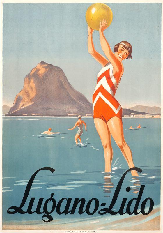 vintage poster | Artist Unknown, Lugano-Lido, 1928
