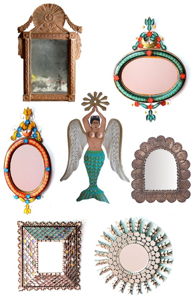 Mexican Mermaids + Mirrors...belong on the walls of my secret patio