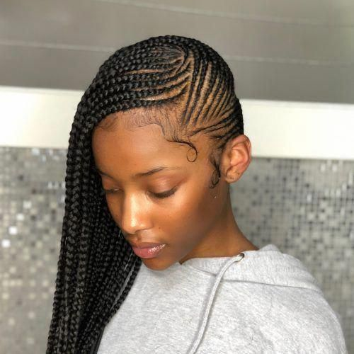 Goddess braids with a simple design #goddessbraids   – goddess braids – #Braids …   – box braids haircut