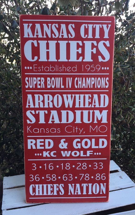 Hey, I found this really awesome Etsy listing at https://www.etsy.com/listing/212898910/kansas-city-chiefs-wood-sign