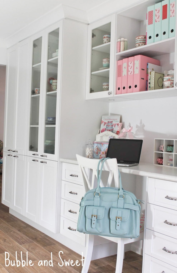 Bubble and Sweet: A pretty white light filled organised creative space #camerabagsforwomen #jototes #mintbag