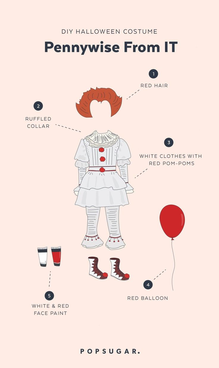 DIY Pennywise From It Halloween Costume