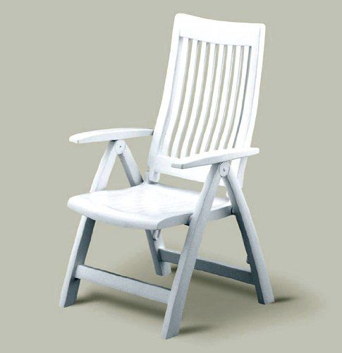 Kettler - Folding Reclining Patio Chair with High Back, White Frame - 49 Best Images About Resin Patio Chairs On Pinterest Patio