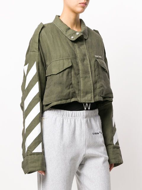 Off-White cropped Diag M65 jacket