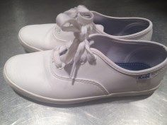 SwopBoard Listing - Girls white leather Keds tennis shoes