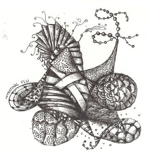 NFT-Intestinal Flu | by molossus, who says Life Imitates Doodles