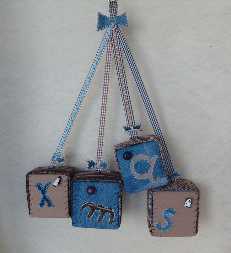 Cow-boy style gift-boxes ornament. | Created by JKa. Available at https://www.etsy.com/shop/CreationsbyTzeniKa #CreationsbyTzeniKa