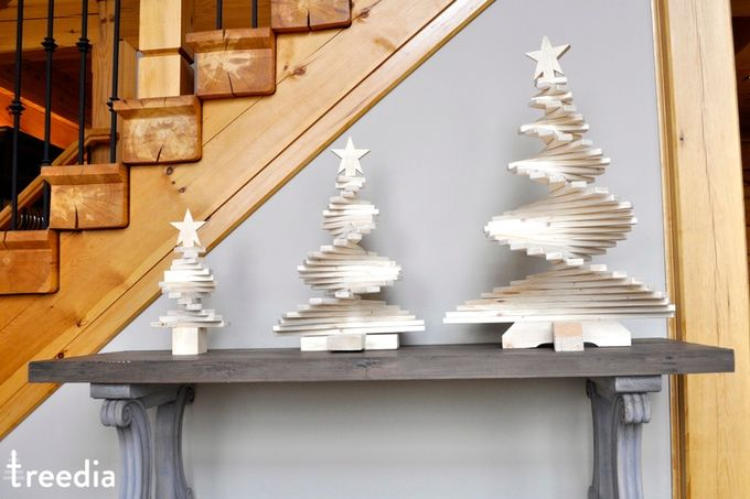Did you know that treedia has 3 sizes of Wooden Christmas Trees ?
