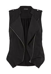 asymmetrical light weight zip front plus size vest - maurices.com