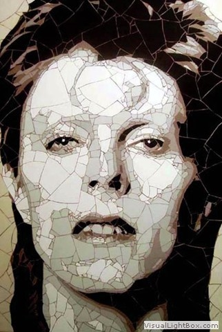 If ever there was a face worthy of mosaic ...  David Bowie by Ed Chapman