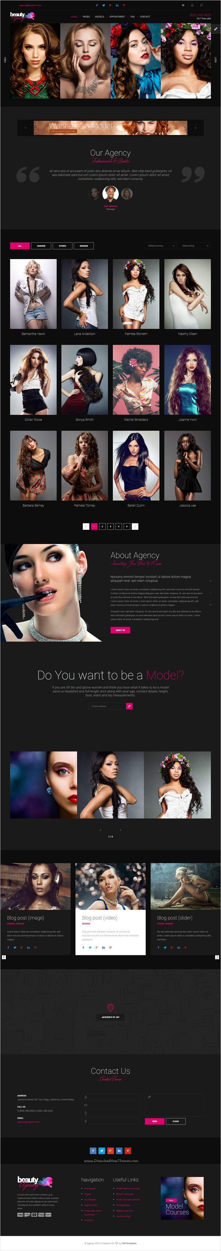 Models agency is beautifully design #Bootstrap HTML #template specifically for #fashion or #modelling agencies website download now➩ https://themeforest.net/item/models-agency-models-portfolio-html-template/17447156?ref=Datasata
