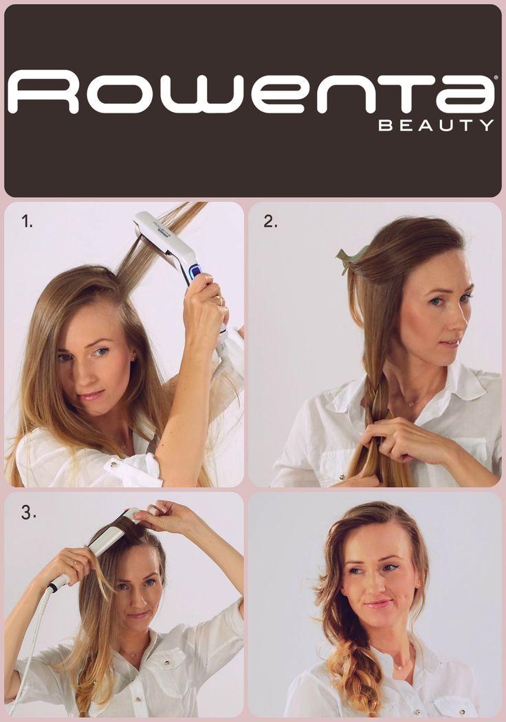 Luźny warkocz na bok Krok 1. Unieś włosy od nasady przy pomocy VOLUM'24 Krok 2.  Zapleć luźny warkocz z jednej strony Krok 3.  Oddziel grzywkę i zakręć ją przy użyciu prostownicy RESPECTISSIM 7/7 #Respectissim #Rowenta #RowentaPolska #fryzura #włosy #hair #hairstyle #hotd #fryzjer #wlosomania #wlosomaniaczka #wlosomaniaczki #hairmania #hairgoals #haircolor #curls #waves #straightner #volum #wavy #straight #easy #tutorial #stepbystep