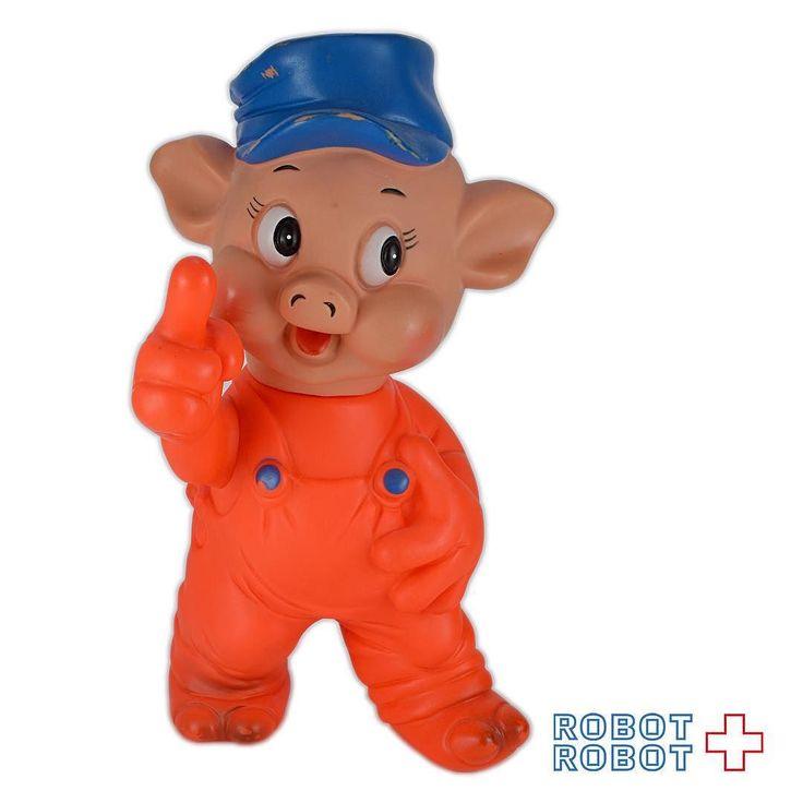 #三匹の子ぶた プラクティカルピッグ ソフビフィギュア ESTRELA Three Little Pigs PRACTICAL PIG Vinyl Figure  #Disney #ディズニー #アメトイ #アメリカントイ #おもちゃ#おもちゃ買取 #フィギュア買取 #アメトイ買取#vintagetoys #中野ブロードウェイ #ロボットロボット #ROBOTROBOT #中野 #ディズニー買取 #スーベニア買取