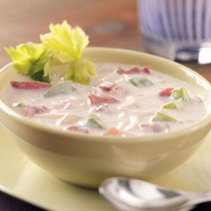 Creamy Reuben Soup Recipe (use xanthan gum in place of flour to reduce carbs)