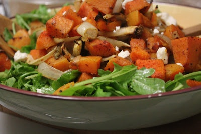 Fall salads | spiced squash and fennel with arugula and goat cheese