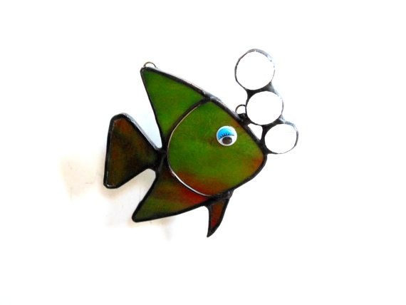 17 best images about stain glass fish on pinterest for Stained glass fish