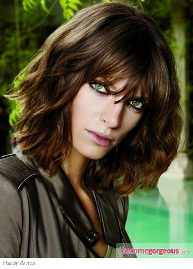 ... Long Bobs Hairstyles, Brown Colors, Layered Bobs, Messy Hair Styles