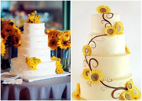 Rustic Wedding Cakes Sunflower