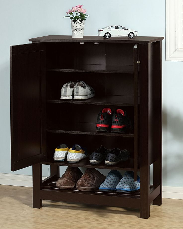 Discover How Attractive Storage Can Be With The Fairfield Shoe Cabinet.  This Slender Cabinet Offers