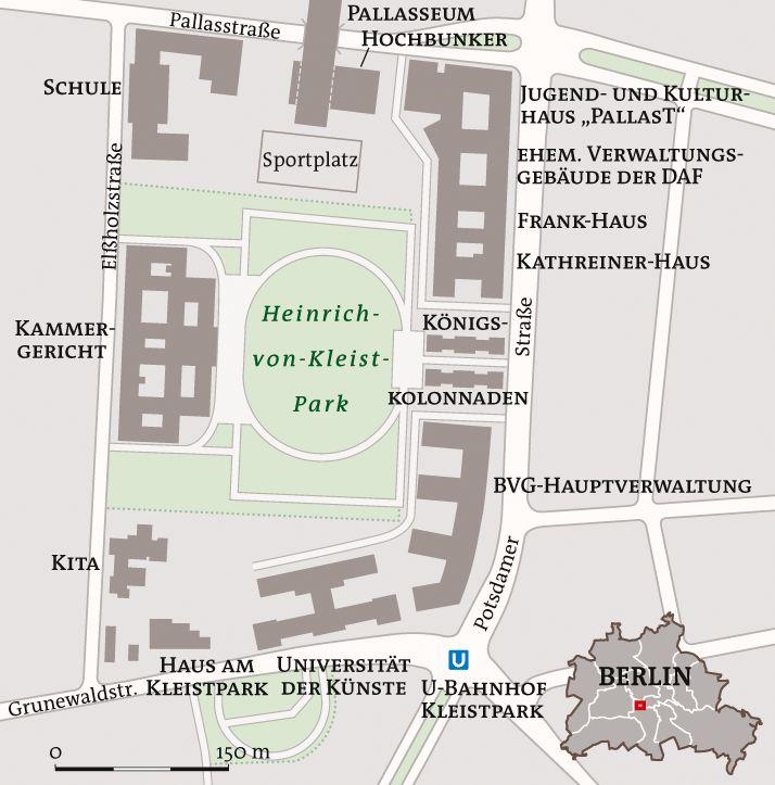 Umgebungskarte Heinrich von Kleist Park