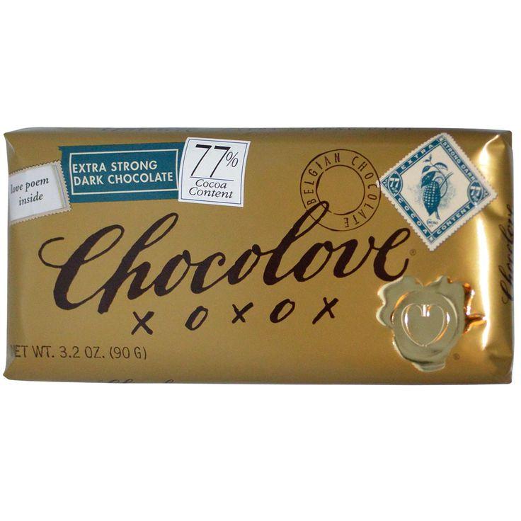 Chocolove, Extra Strong Dark Chocolate, 3.2 oz (90 g) - iHerb.com