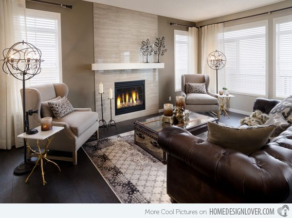 20 Gorgeous Living Room Furniture Arrangements Fireplace DesignFireplace