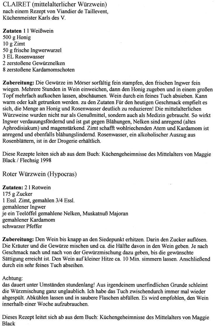Würzwein - Ein ähnliches Rezept wird Laura im Mittelalterdorf zum Vehängnis.