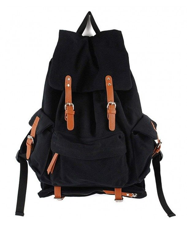 ea1b8f390c3c Canvas Hiking Traveling Backpack Stylish Shoulder School Bag ...